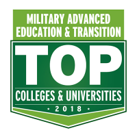 Military advanced education and transition top colleges and universities logo