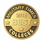 Military Times round logo with best for vets college ranking